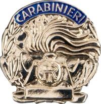 placca carabinieri argento