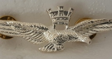 brevetto di volo militare argento